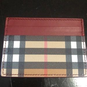 Burberry Vintage Check & Leather Card Case